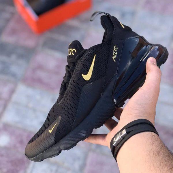 کفش نایک ایرمکس ۲۷۰ Nike Air Max مشکی نایک طلایی