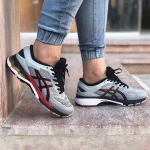 کفش مردانه اسیکس ژل کایانو Asics Gel Kayano 26 طوسی