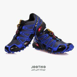 کفش مردانه سالامون اسپید کراس ۳ مخصوص دویدن آبی
