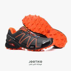 کفش مردانه سالامون اسپید کراس ۳ مخصوص دویدن مشکی نارنجی
