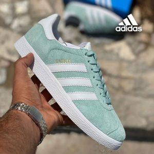 کفش آدیداس گزل سبز کم رنگ adidas Gazelle
